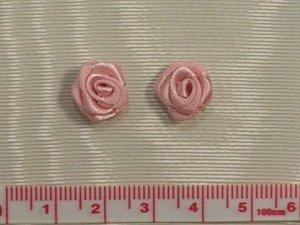 画像1: 巻きバラ サーモンピンク 2個入り 10mm