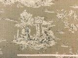 風景柄(ジュイ風)広幅 シナモン